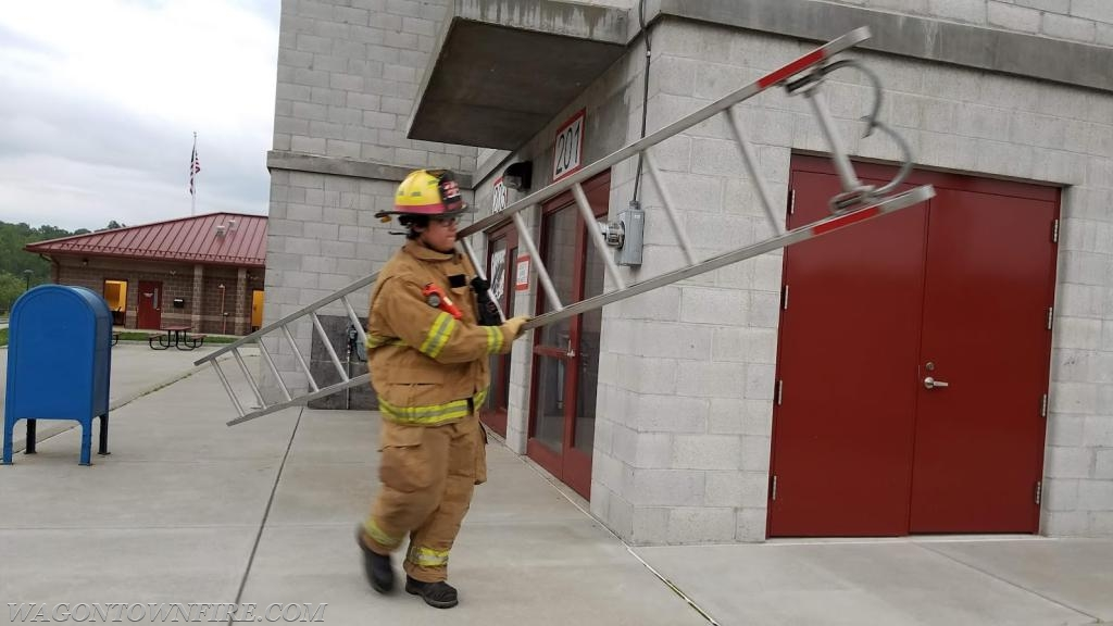 Juniors honing their skills with ladders